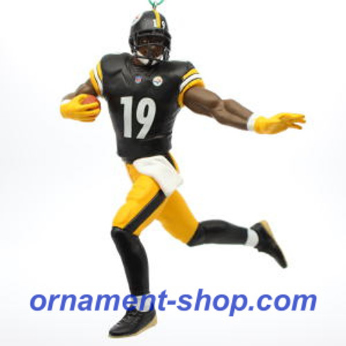 2019 Football - JuJu Smith Shuster - Pittsburgh Steelers Hallmark ornament (QXI3809)