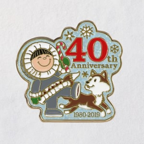2019 Frosty Friends - 40th Anniversary Pin Hallmark ornament (QSB6207)
