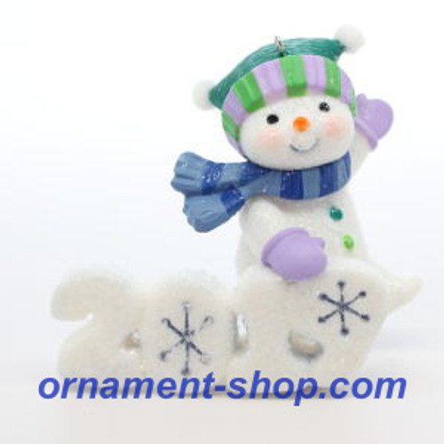 2019 Frosty Fun Decade #10F Hallmark ornament (QXR9029)