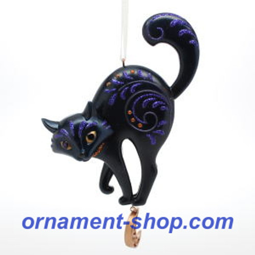 2019 Halloween - Bewitching Black Cat Hallmark ornament (QFO5275)