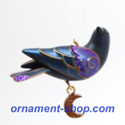 2019 Halloween - Stately Little Raven - Miniature Hallmark ornament (QFO5278)