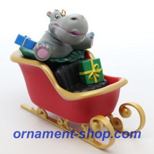 2019 I Want a Hippopotamus for Christmas Hallmark ornament (QGO2167)