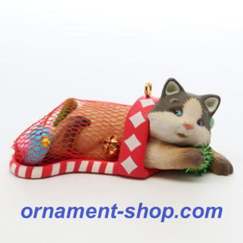 2019 Mischievous Kitten #21 Stocking Hallmark ornament (QXR9027)