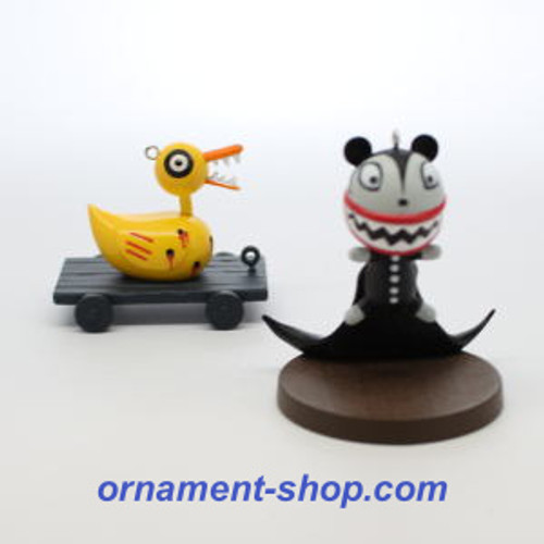 2019 Nightmare Before Christmas - Scary Teddy and Undead Duck - Ltd Hallmark ornament (QXE3129)