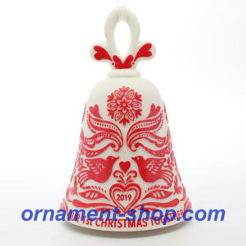 2019 Our First Christmas - Bell Hallmark ornament (QGO2389)