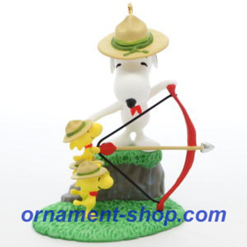 2019 Peanuts - Beagle Scouts - Archery Practice Hallmark ornament (QXI3779)