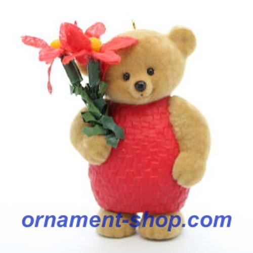 2019 Pretty Poinsettia - Mary's Bears #5 Hallmark ornament (QXR9109)