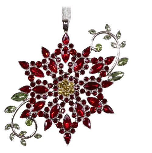 2019 Sparkling Poinsettia Hallmark ornament (QK1239)