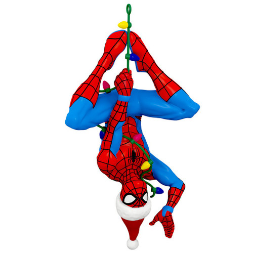 2019 Spider-man - Here Comes Spidey Claus - Spider-Man Hallmark ornament (QXI3867)