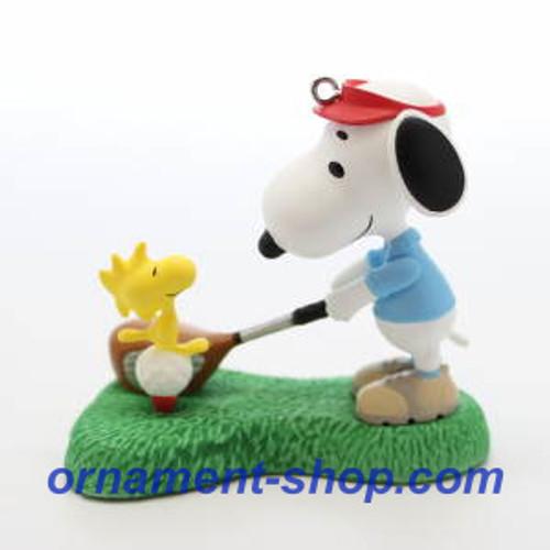 2019 Spotlight on Snoopy #22 - Golfer Snoopy Hallmark ornament (QXR9457)