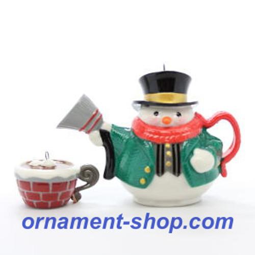 2019 Tea Time! #4 - Snowman Hallmark ornament (QXR9129)