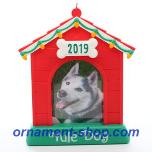 2019 Yule Dog - Photo Holder Hallmark ornament (QGO2077)