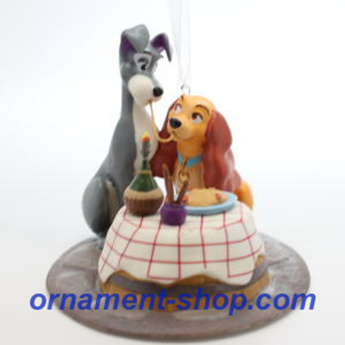 2019 Disney - A Beautiful Night - Lady and the Tramp Hallmark ornament (QXD4087)
