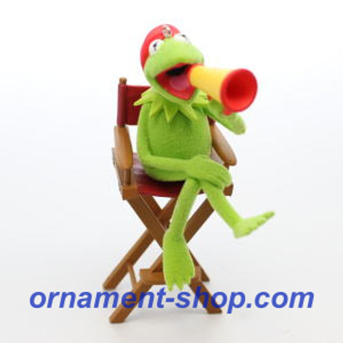 2019 Disney - The Muppets - Lights, Camera, Kermit Hallmark ornament (QXD6317)