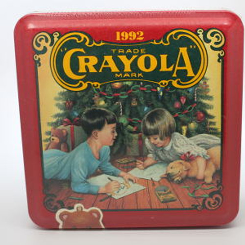 1992 Crayola Tin and Crayons
