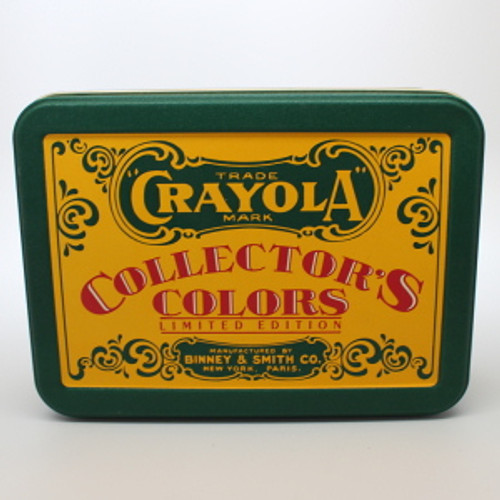 1990 Crayola Tin and Crayons