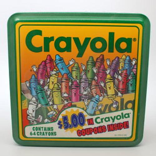 1995 Crayola Crayons and Tin