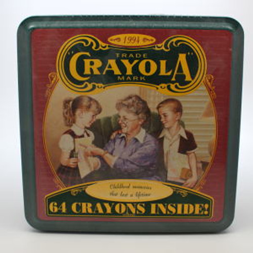 1994 Crayola Tin and Crayons