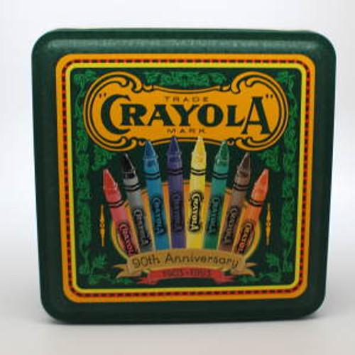 1993 Crayola Tin and Crayons