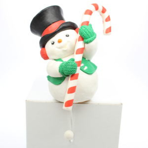 1986 Cheerful Snowman - Stocking Hanger