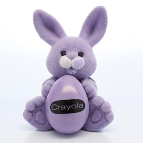 1987 Flocked Crayola Bunny - Purple
