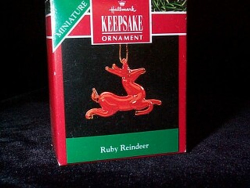 1990 Ruby Reindeer
