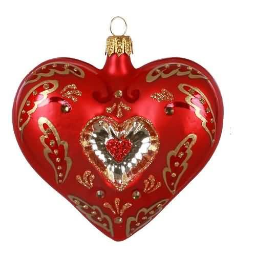 2020 Elegant Glass Heart Hallmark ornament (QK1384)