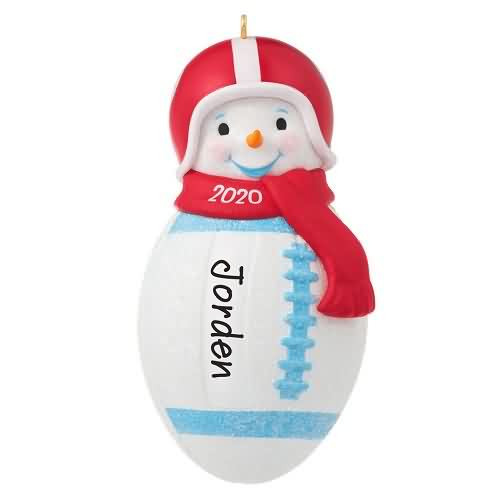 2020 Football Snowman Hallmark ornament (QGO1801)