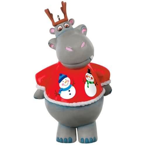 2020 I Want a Hippopotamus for Christmas Hallmark ornament (QGO1814)