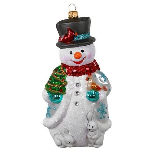 2020 Jolly Glass Snowman Hallmark ornament (QK1434)
