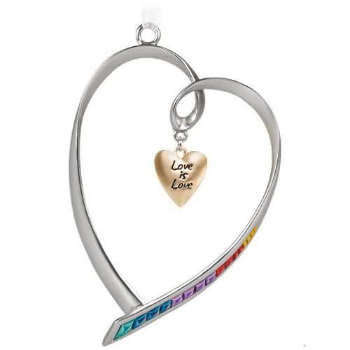 2020 Love Is Love Hallmark ornament (QGO1921)