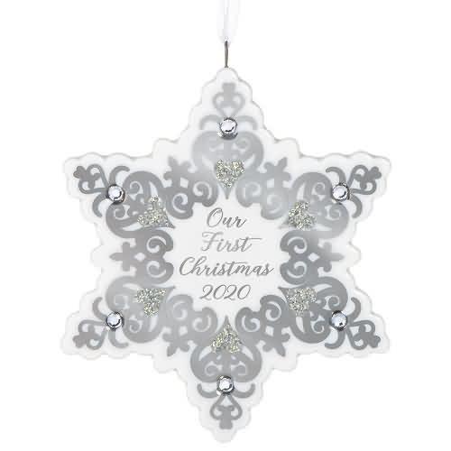2020 Our First Christmas - Snowflake Hallmark ornament (QGO1914)