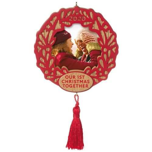 2020 Our First Christmas Together - Photo Hallmark ornament (QGO1881)