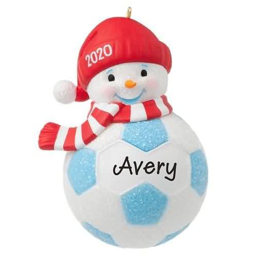 2020 Soccer Snowman Hallmark ornament (QGO1784)