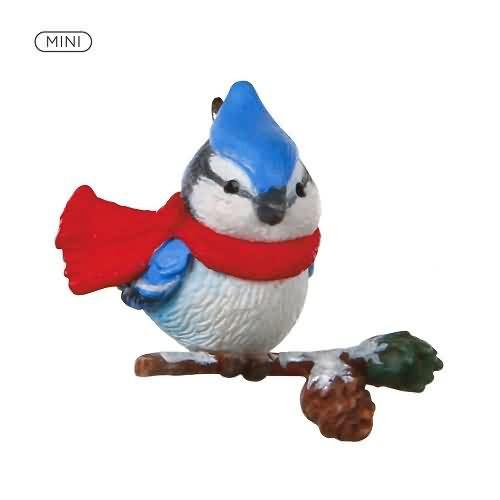 2020 Cozy Lil' Critters #2 - Blue Jay Hallmark ornament (QXM8251)