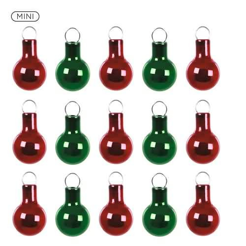 2020 Red and Green Miniature Ornament Set Hallmark ornament (QSB6214)