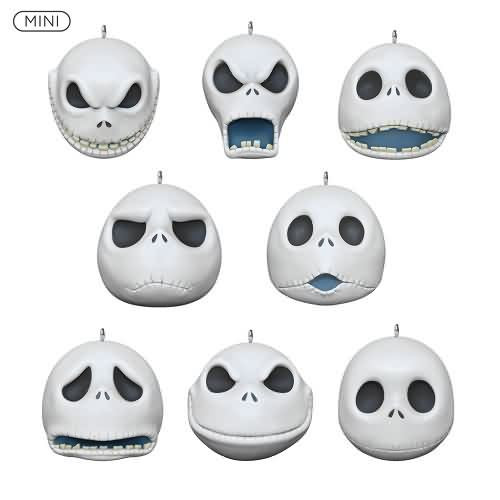 2020 The Many Faces of Jack Skellington - Mini Set Hallmark ornament (QXM8354)