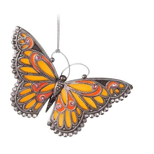 2020 Brilliant Butterflies #3 - Monarch Hallmark ornament (QXR9321)