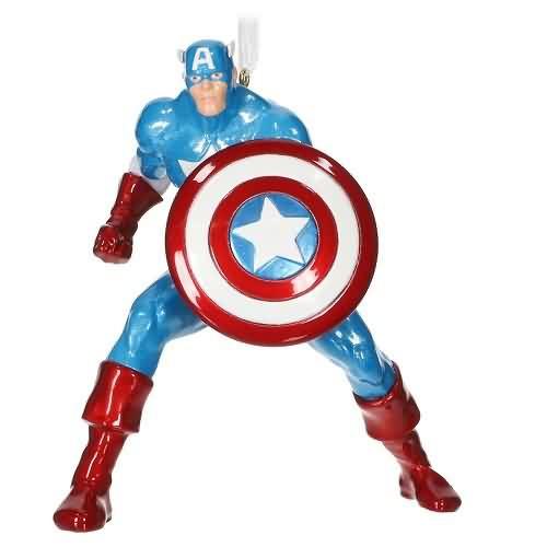 2020 Captain America - Medal Hallmark ornament (QK1344)