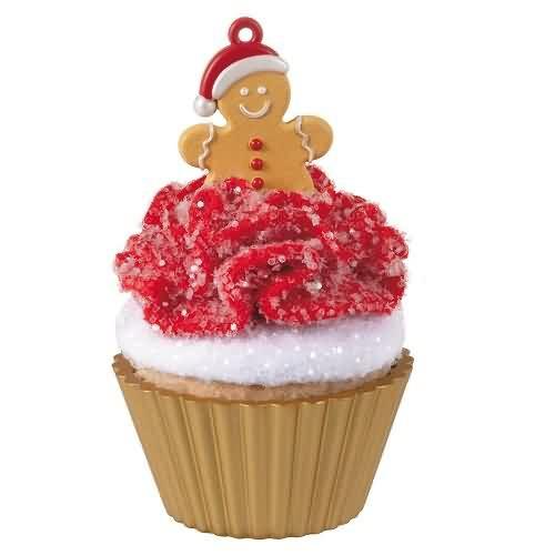2020 Christmas Cupcakes #11 - Gingerbread Cutie Hallmark ornament (QXR9214)