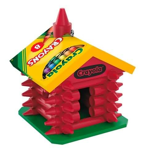 2020 Crayola - Colorful Schoolhouse Hallmark ornament (QXI2591)