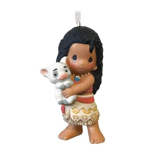 2020 Disney - Moana and Pua - Precious Moments Hallmark ornament (QK1351)