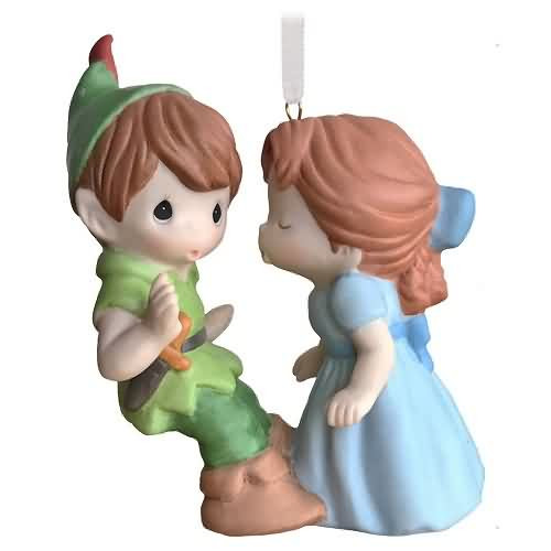 2020 Disney - Precious Moments - Peter Pan and Wendy Hallmark ornament (QXE3214)