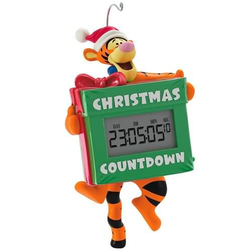 2020 Disney - Winnie the Pooh - Tigger's Christmas Countdown Hallmark ornament (QXD6431)