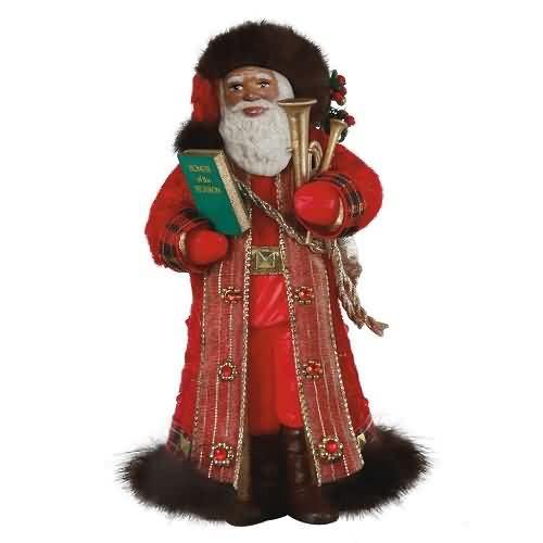 2020 Father Christmas - African American Hallmark ornament (QSM7831)