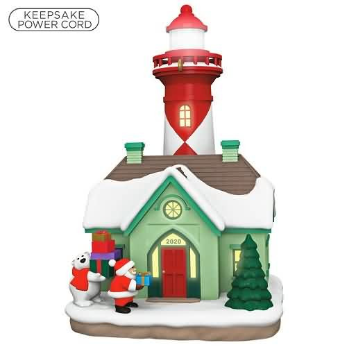 2020 Holiday Lighthouse #9 Hallmark ornament (QXR9201)