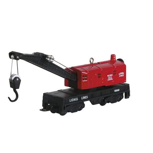 2020 Lionel 6560 Crane Car Hallmark ornament (QXI2491)