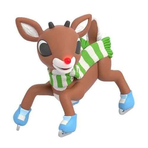 2020 Rudolph - Slippery Skating Hallmark ornament (QXI6104)