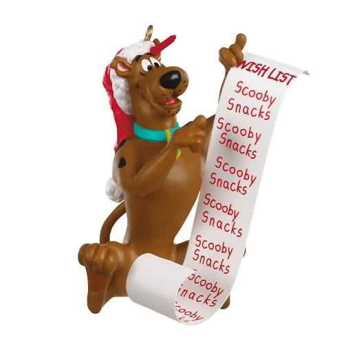 2020 Scooby Doo - Scooby's Christmas List Hallmark ornament (QXI2314)