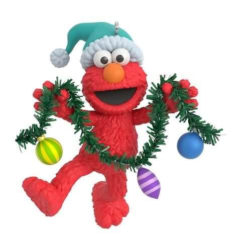 2020 Sesame Street - Deck the Halls with Elmo Hallmark ornament (QXI2291)